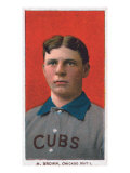 Chicago, IL, Chicago Cubs, M. Brown, Baseball Card Prints by  Lantern Press