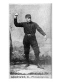 Philadelphia, PA, Philadelphia Quakers, Pop Schriver, Baseball Card Print
