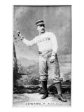 Philadelphia, PA, Philadelphia Athletics, Ed Seward, Baseball Card Print by  Lantern Press
