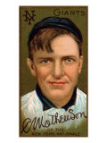 New York City, NY, New York Giants, Christopher Mathewson, Baseball Card Print