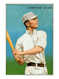 Philadelphia, PA, Philadelphia Athletics, Home Run Baker, Baseball Card Poster by  Lantern Press