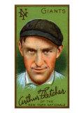 New York City, NY, New York Giants, Arthur Fletcher, Baseball Card Poster