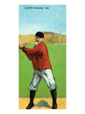 Cleveland, OH, Cleveland Naps, Napoleon Lajoie, Baseball Card Poster