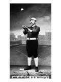 Chicago, IL, Chicago White Stockings, Ned Williamson, Baseball Card Print