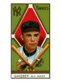 New York City, NY, New York Yankees, Earl Gardner, Baseball Card Poster by  Lantern Press