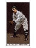 New York City, NY, New York Giants, John J. McGraw, Baseball Card Poster
