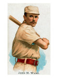 New York City, NY, New York Giants, John M. Ward, Baseball Card Posters by  Lantern Press