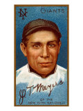 New York City, NY, New York Giants, John T. Meyers, Baseball Card Posters by  Lantern Press