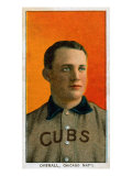 Chicago, IL, Chicago Cubs, Orval Overall, Baseball Card Prints