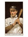 Cleveland, OH, Cleveland Naps, John B. Adams, Baseball Card Poster