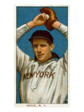 New York City, NY, New York Giants, Larry Doyle, Baseball Card Print