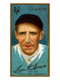 New York City, NY, New York Giants, Leon Ames, Baseball Card Print