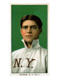 New York City, NY, New York Giants, Jake Weimer, Baseball Card Posters by  Lantern Press