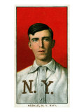 New York City, NY, New York Giants, Fred Merkle, Baseball Card Posters by  Lantern Press