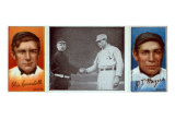 New York City, NY, New York Giants, Otis Crandall, J. T. Meyers, Baseball Card Posters by  Lantern Press
