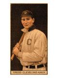 Cleveland, OH, Cleveland Naps, Vean Gregg, Baseball Card Poster