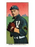 Vancouver, WA, Vancouver Northwestern League, Kusel, Baseball Card Poster by  Lantern Press