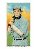 Los Angeles, CA, Los Angeles Pacific Coast League, Murphy, Baseball Card Poster by  Lantern Press