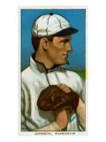 Washington D.C., Washington Nationals, Walter Johnson, Baseball Card Poster by  Lantern Press
