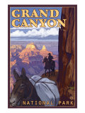 Grand Canyon National Park, Arizona, Mule Train Scene Prints