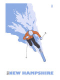 New Hampshire, Skier Stylized Posters by  Lantern Press
