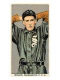 Sacramento, CA, Sacramento Pacific Coast League, Hollis, Baseball Card Print by  Lantern Press