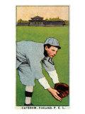 Oakland, CA, Oakland Pacific Coast League, Cutshaw, Baseball Card Print