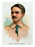 St. Louis, MO, St. Louis Browns, R. L. Caruthers, Baseball Card Print