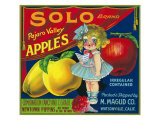 Solo Pajaro Valley Brand Apple Label, Watsonville, California Prints