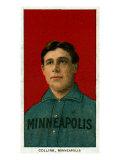 Minneapolis, MN, Minneapolis Minor League, Jim Collins, Baseball Card Posters by  Lantern Press