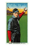 Sacramento, CA, Sacramento Pacific Coast League, Hunt, Baseball Card Posters by  Lantern Press