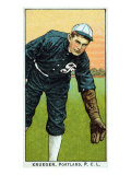 Portland, OR, Portland Pacific Coast League, Krueger, Baseball Card Print