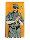 Los Angeles, CA, Los Angeles Pacific Coast League, Caslleton, Baseball Card Print by  Lantern Press