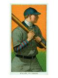 Pittsburgh, PA, Pittsburgh Pirates, Dots Miller, Baseball Card Print by  Lantern Press
