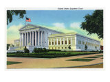 Washington DC, Exterior View of the US Supreme Court Building, no.2 Prints by  Lantern Press