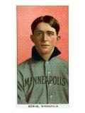 Minneapolis, MN, Minneapolis Minor League, Jerry Downs, Baseball Card Poster by  Lantern Press
