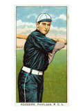 Portland, OR, Portland Pacific Coast League, Rodgers, Baseball Card Poster