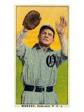 Oakland, CA, Oakland Pacific Coast League, Manush, Baseball Card Poster