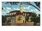 Exterior View of the Old Capitol Building, Williamsburg, Virginia Posters