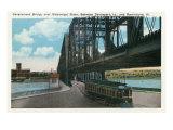 Davenport, Iowa, View of the Govt. Bridge over Mississippi River towards Rock Island Prints