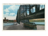 Davenport, Iowa, View of the Govt. Bridge over Mississippi River towards Rock Island Prints by  Lantern Press