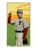 Vernon, CA, Vernon Pacific Coast League, Shafer, Baseball Card Posters by  Lantern Press