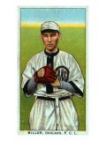 Oakland, CA, Oakland Pacific Coast League, Miller, Baseball Card Posters by  Lantern Press