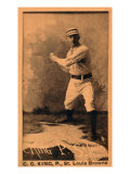 St. Louis, MO, St. Louis Browns, Silver King, Baseball Card Posters by  Lantern Press