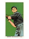 Sacramento, CA, Sacramento Pacific Coast League, Brown, Baseball Card Posters
