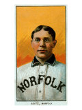 Norfolk, VA, Norfolk Virginia League, Charles Seitz, Baseball Card Posters by  Lantern Press