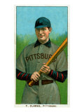 Pittsburgh, PA, Pittsburgh Pirates, F. Clark, Baseball Card Posters by  Lantern Press