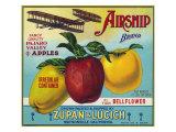 Airship Pajaro Valley Brand Apple Label, Watsonville, California Posters