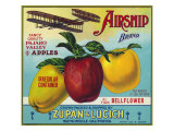 Airship Pajaro Valley Brand Apple Label, Watsonville, California Posters by  Lantern Press