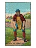 St. Louis, MO, St. Louis Browns, Doc Bushong, Baseball Card Poster